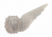 Airborne Technician Royal Air Force RAF MOD Single Wing Nickel Pin Badge / Brevet